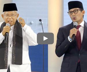Presidential debates round 3: Ma'ruf Amin vs. Sandiaga Uno VP candidates play it...