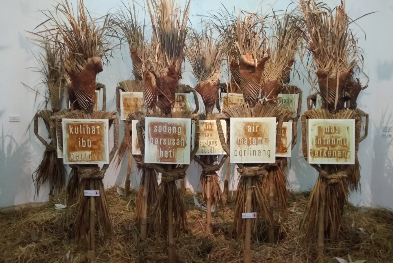 Hari Budiono's 'Memedi Sawah' exhibition scares away fear