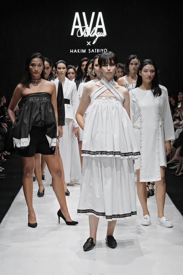 Grayscale: Monochromatic color palettes still dominate the catwalk at Plaza Indonesia Fashion Week, which runs until March 22.