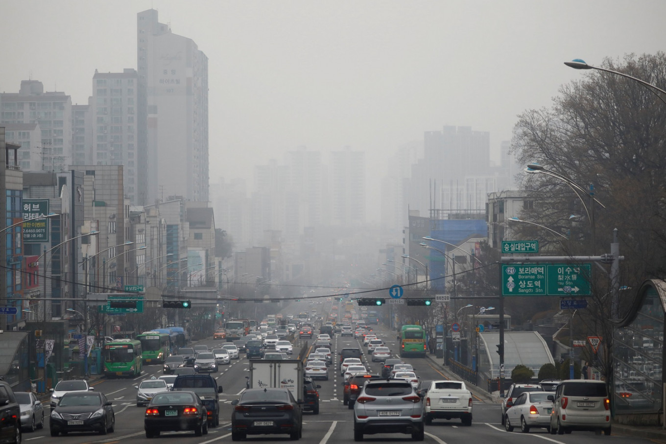 Pork for pollution? South Koreans fight smog with grease