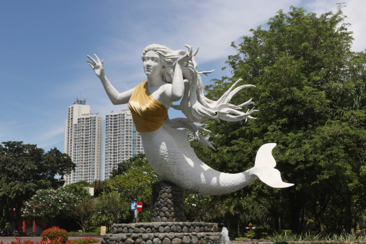 Ancol covers nude mermaid statues