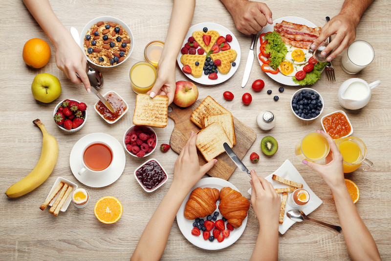 Eating breakfast as a family could boost children's body image