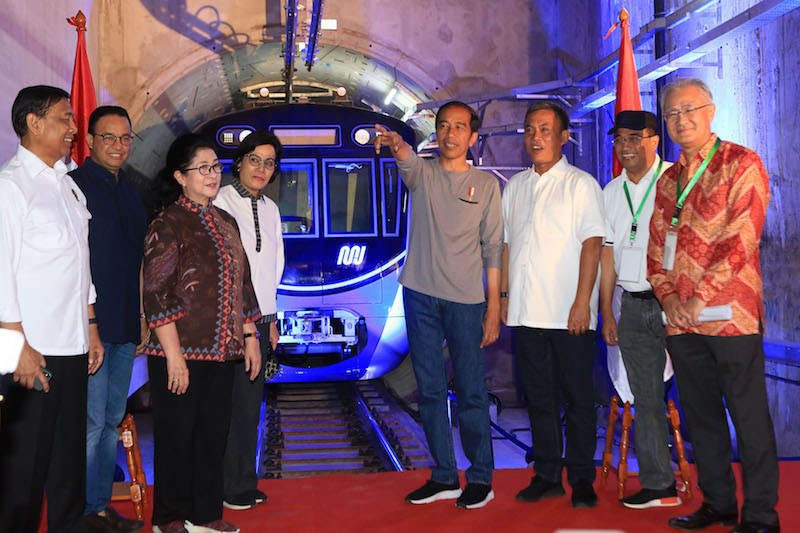 Jokowi calls for citizens to adapt to new culture as he inaugurates MRT