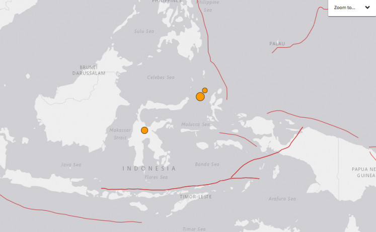 Earthquakes hit Ternate and Poso