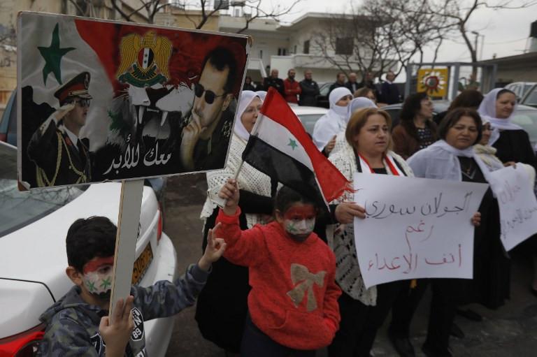 Rallies sweep Syria to condemn US Golan move