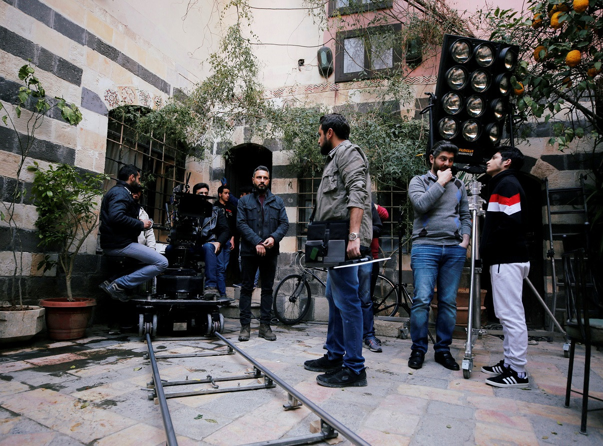 Film cameras start to roll again in Damascus studios