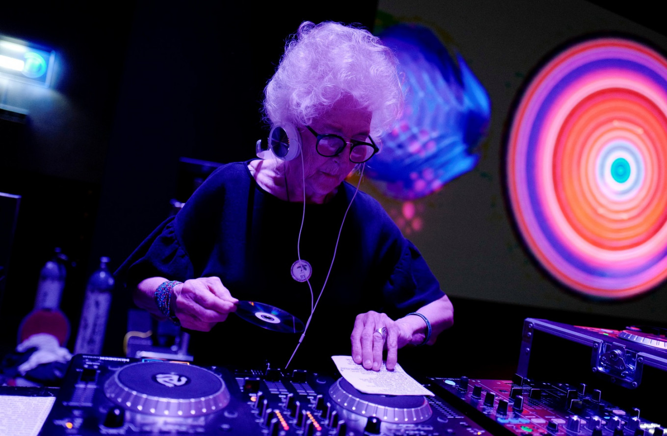 Jiving eighty-year-old DJ parties in Poland