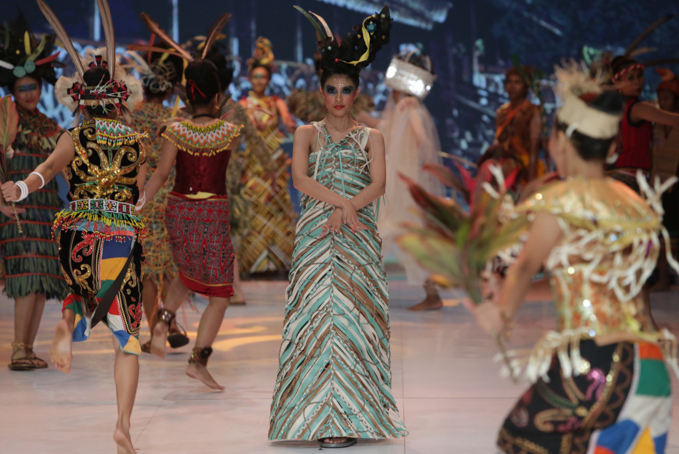 Indonesia Fashion Week designers use plastic waste as materials