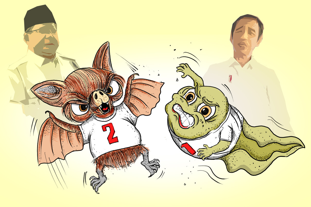 Of tadpoles and small bats: How name calling deepens Indonesia's great political divide