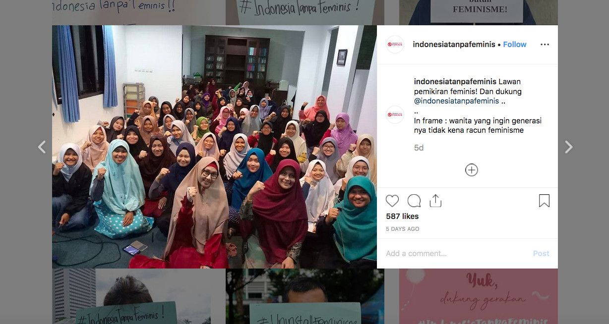 'My body is not mine': Indonesia Without Feminists group starts online campaign