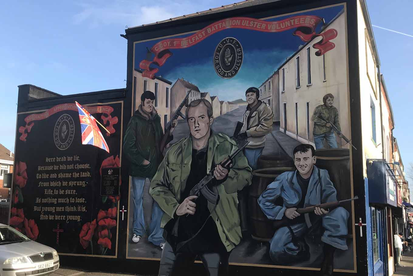 A mural of Belfast's Ulster Volunteers (UVF)