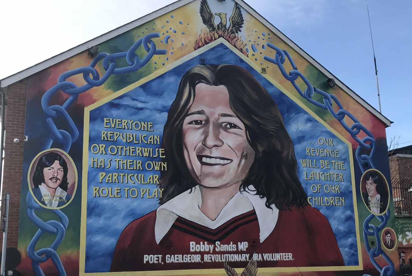 A mural of Provisional IRA militant Bobby Sands