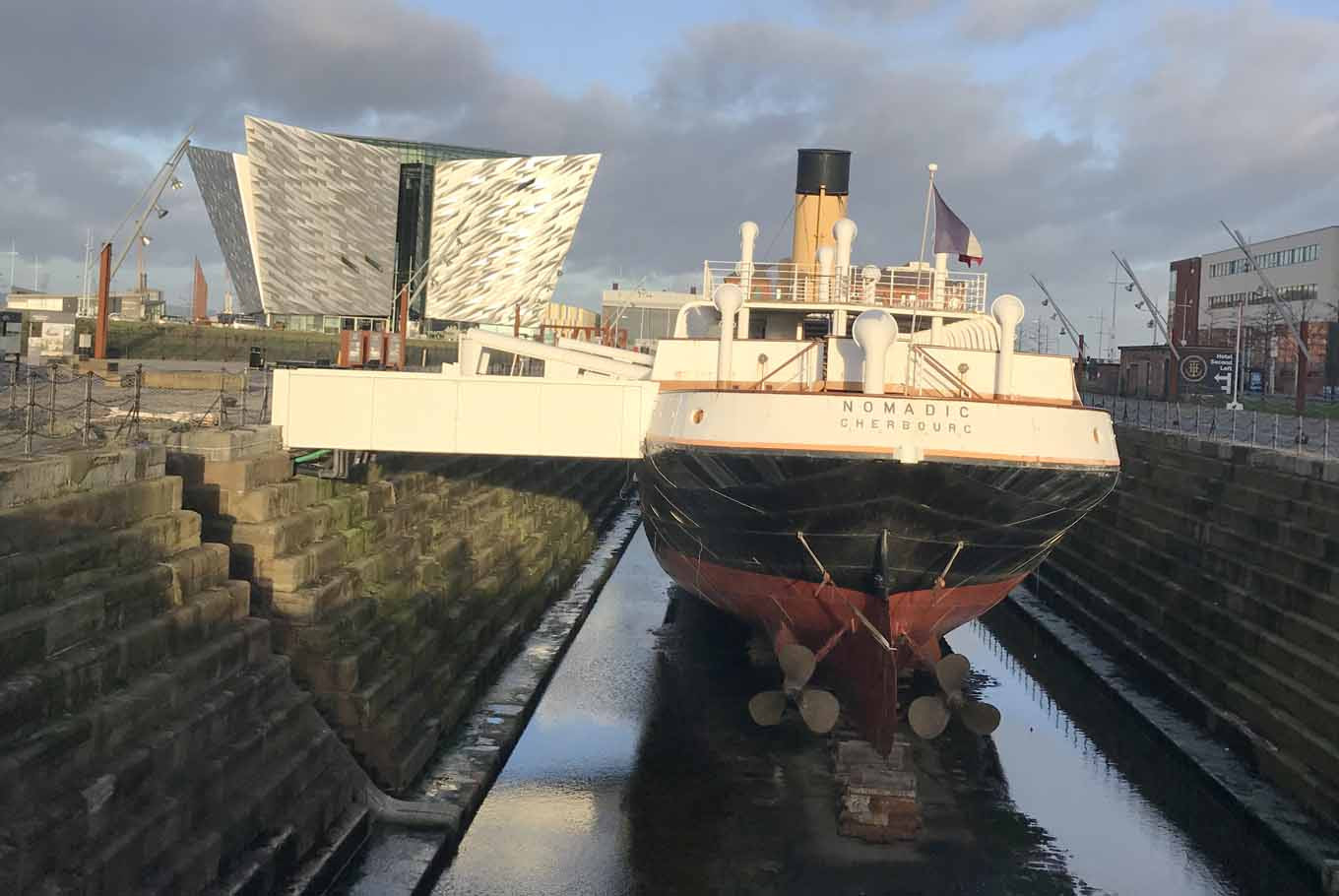 The SS Nomadic, a ship in the Titanic Quarter