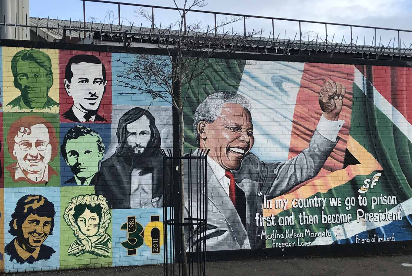 A mural depicting Nelson Mandela