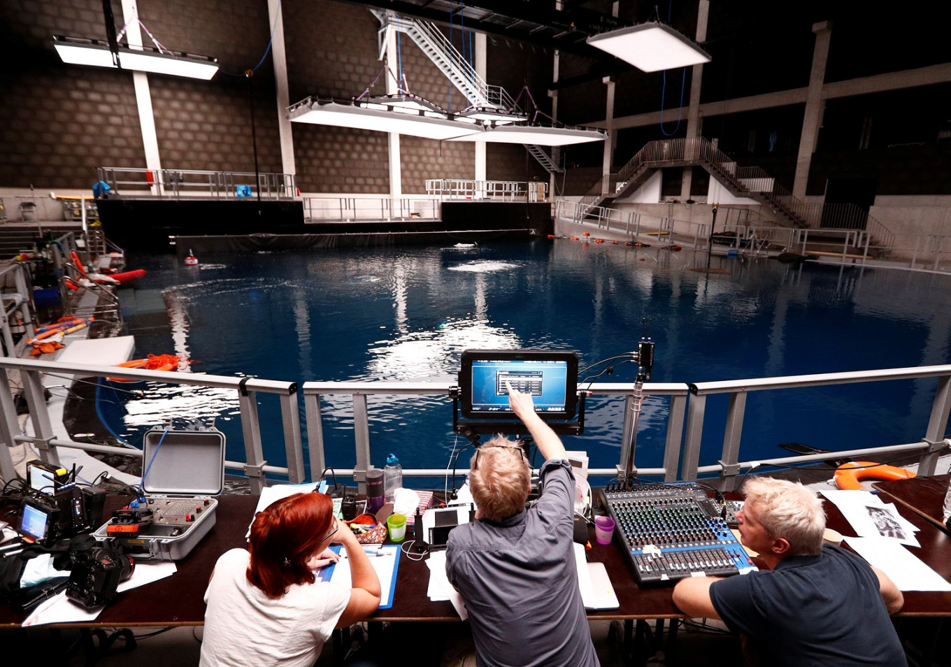Filming 30 feet down: Underwater movie studio opens in Belgium