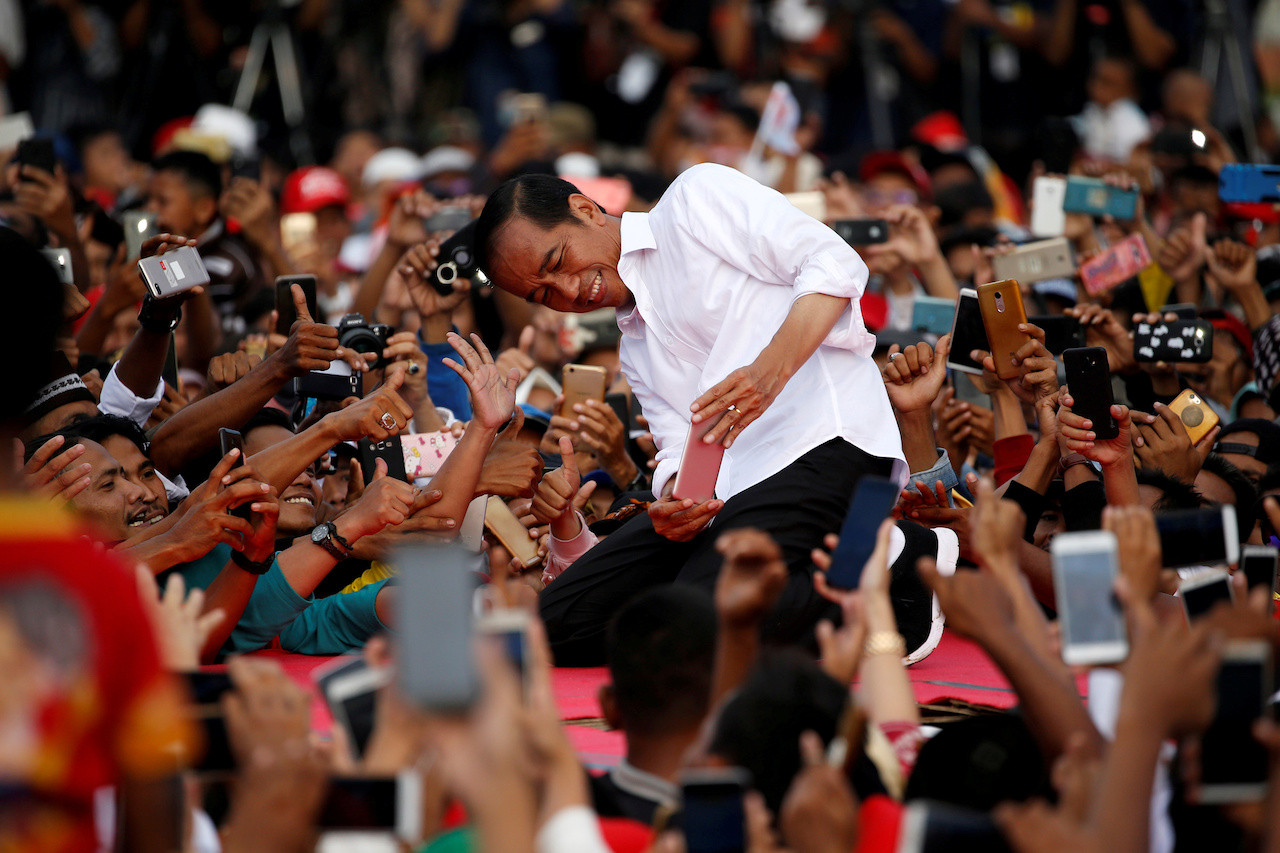 Jokowi aims for 70 percent votes in Central Java stronghold