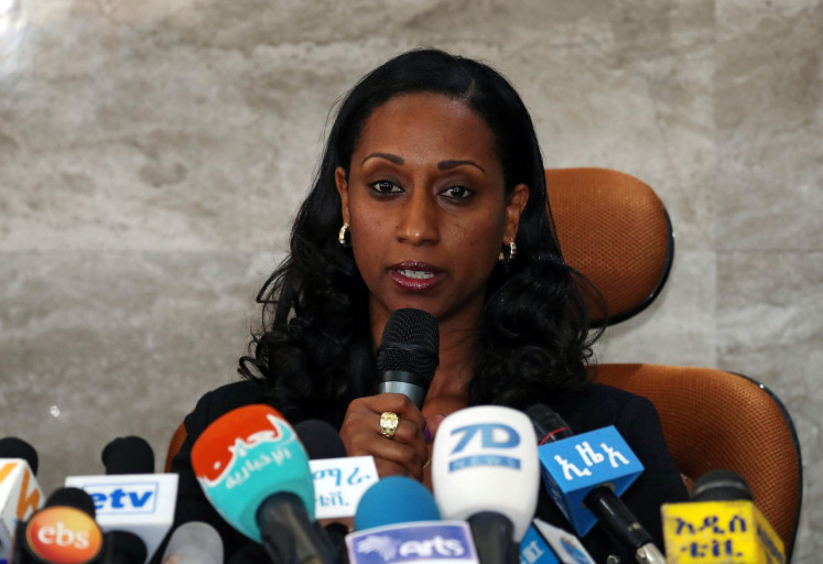 Ethiopian transport minister Dagmawit Moges addresses a news conference on the preliminary report to the Ethiopian Airlines ET 302 plane crash in Addis Ababa, Ethiopia April 4, 2019.