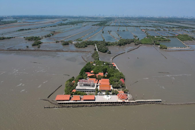 Against the tide: Thai 'floating temple' defies coastal erosion
