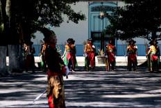 Archers get ready for the ceremony. JP/Maksum Nur Fauzan