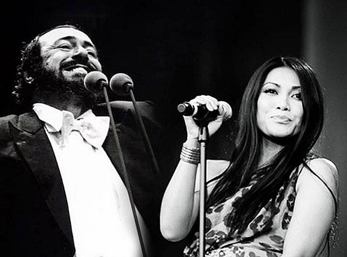 Anggun to perform a virtual duet with Pavarotti