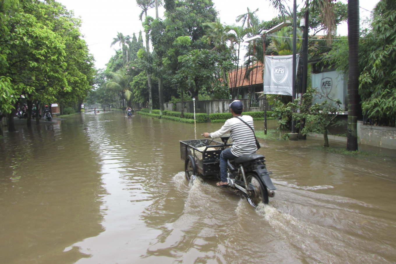 Floods hit residential areas in Bekasi
