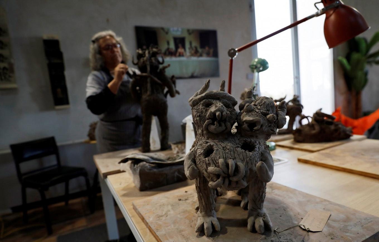 Lisbon patients tackle mental health 'monsters' through art