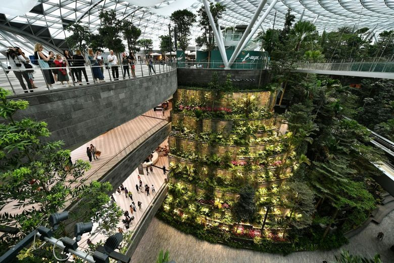 F&B outlets, waterfall a big draw for visitors at Jewel Changi Airport