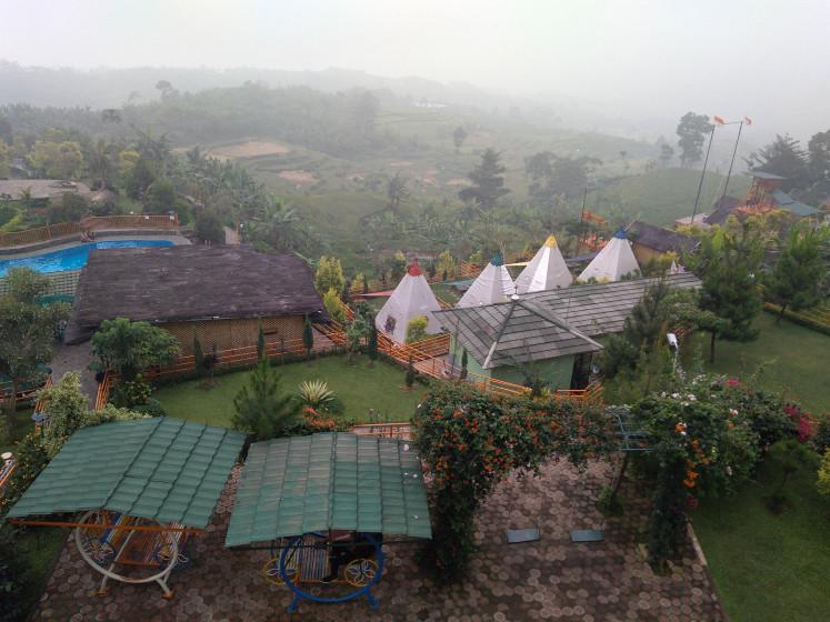 Villa Khayangan in Sukamakmur subdistrict, Bogor, West Java