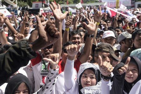 40,000 security personnel on guard for Jokowi's final open rally