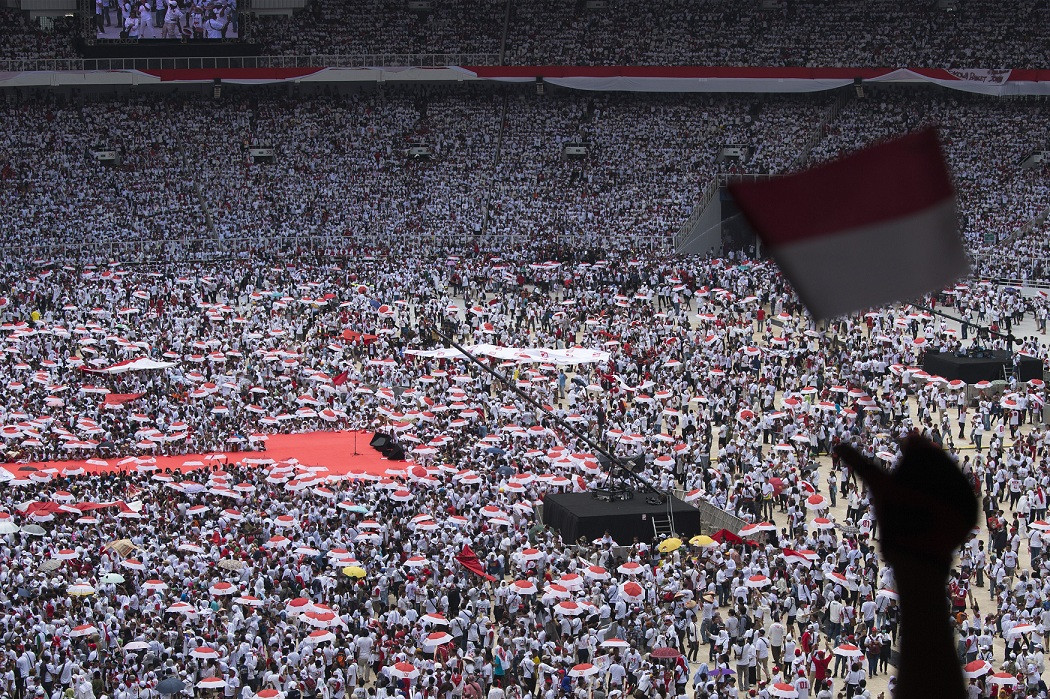 Carnival, concerts entertain crowd at Jokowi's largest rally in Jakarta