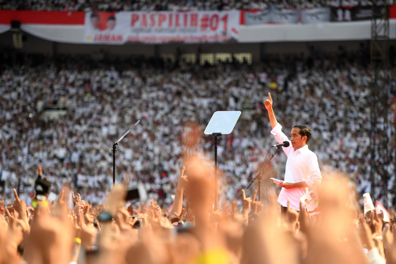 Jokowi emphasizes diversity, confidence in final rally