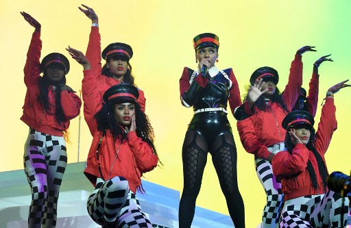 Singer Janelle Monae performs at Coachella Music Festival on April 12, 2019 in Indio, California.