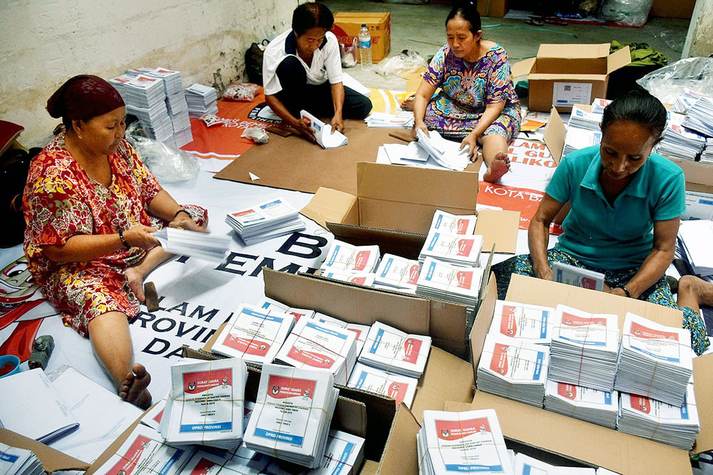 Following logistical hiccups, some Jayapura residents to vote on April 18