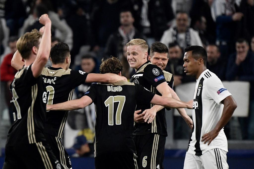 7d0d4228448 Ajax stun Ronaldo s Juventus to reach Champions League semis ...