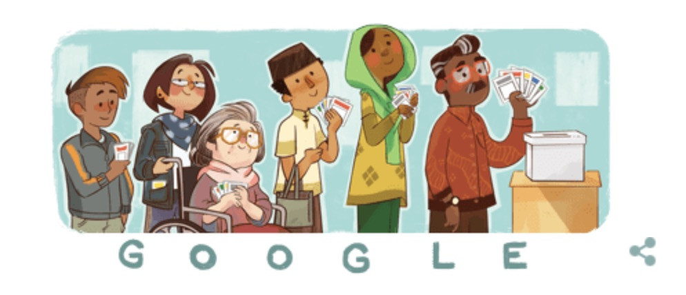 Google Doodle marks 2019 elections with 'diversity'