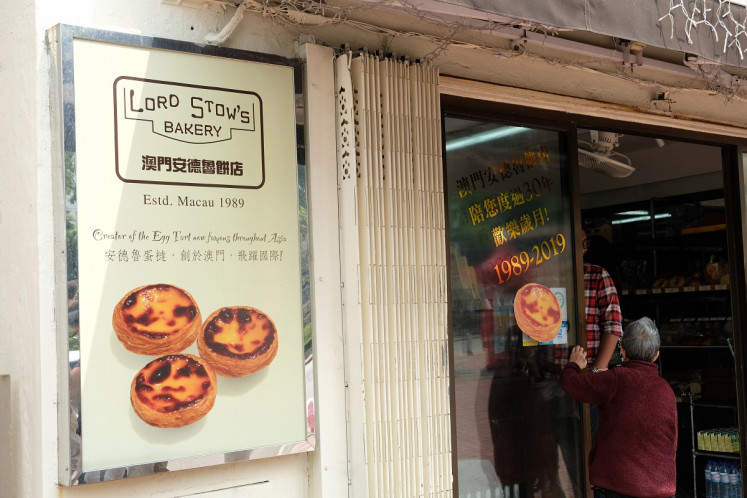 Iconic tart: Portuguese egg tart from Lord Stow's Bakery is a must-try delicacy on Coloane Island.