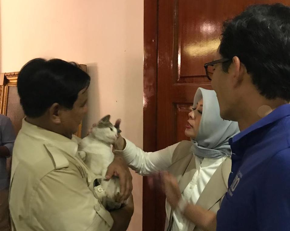 Sandiaga makes first public post after conspicuous election night absence