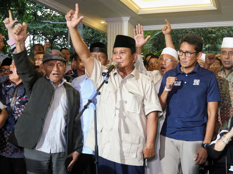 Gerindra denies Prabowo named suspect in treason case