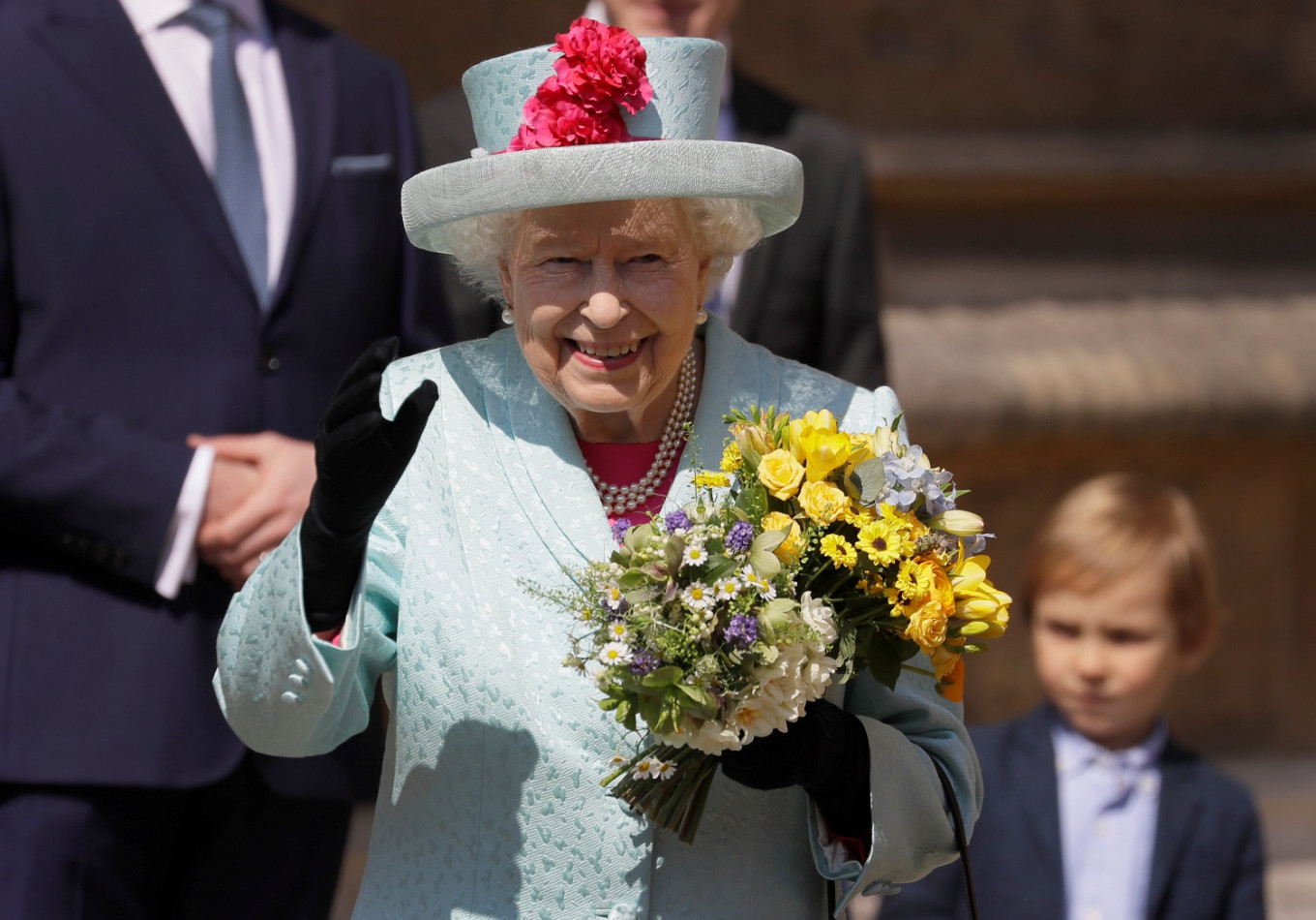 Britain's Queen Elizabeth celebrates 93rd birthday at Easter service