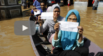 Elections a success despite flooding in West Java