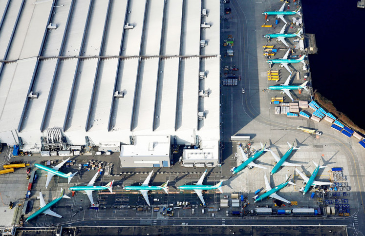 Boeing 737 MAX airplanes are parked on the tarmac at the Boeing Factory in Renton, Washington, the United States, on March 21. The US Federal Aviation Administration said Friday that a joint governmental review of the currently grounded aircraft would begin on April 29 and would include nine other aviation regulators from around the world.