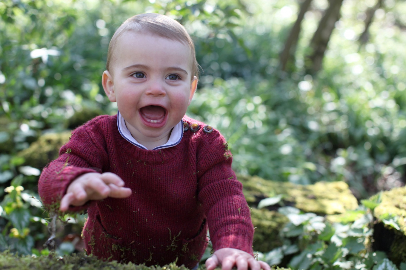 UK royals publish photos of Prince Louis to mark first birthday