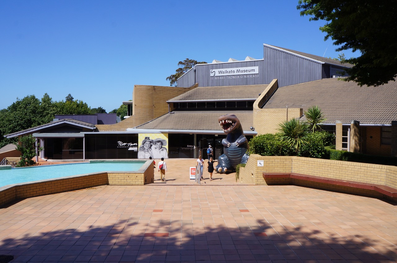 The Waikato Museum exhibits both local and international collections in Hamilton, New Zealand.