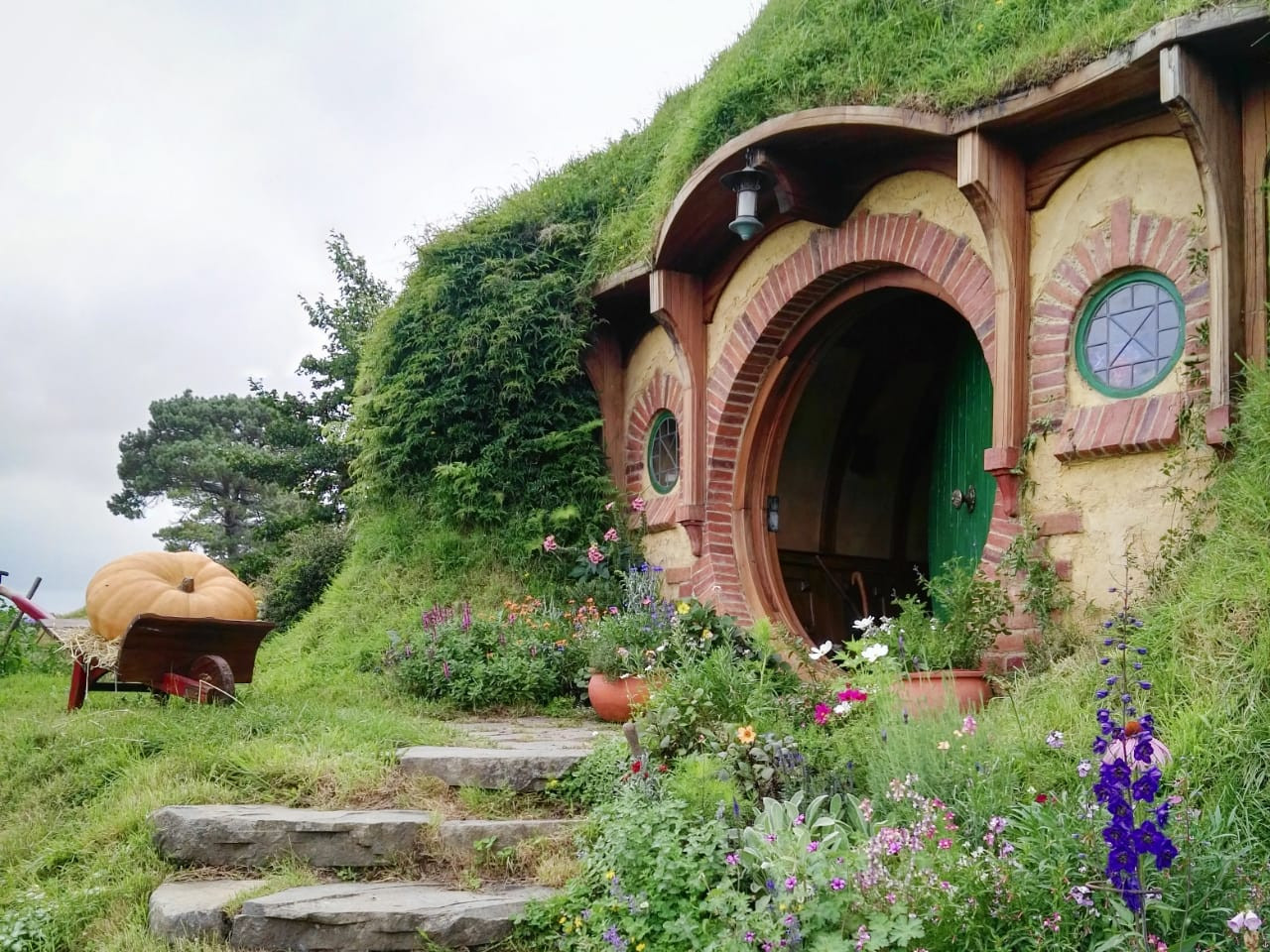 The iconic Bag End, Bilbo Baggins' home, stands pristine and true at the Hobbiton movie set in Matamata, New Zealand.