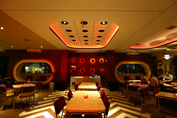 The interior of Ding Dong Disko in Kemang, South Jakarta, is able to transform you into a science-fiction realm.