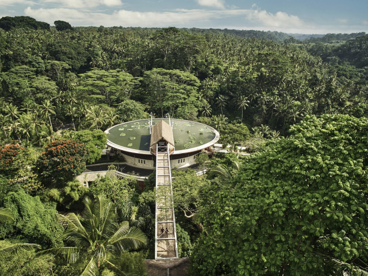 Four Seasons Resort Sayan is well-known for its 'rooftop arrival'.
