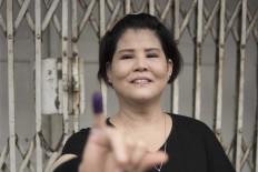 Lie Chiu Yung, 57, one of the voters in Glodok. JP/Rosa Panggabean