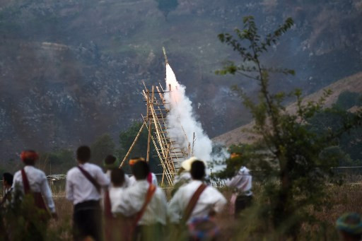 Dragons and wizards fired up at Myanmar rocket festival