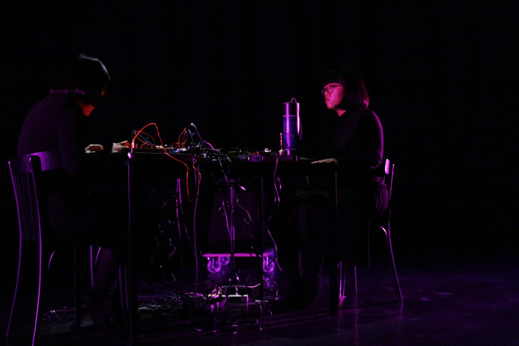 Dark: The performance of Sarana, an ambient-experimental unit from Samarinda in East Kalimantan, is part of this year's CTM Festival in Berlin, Germany.