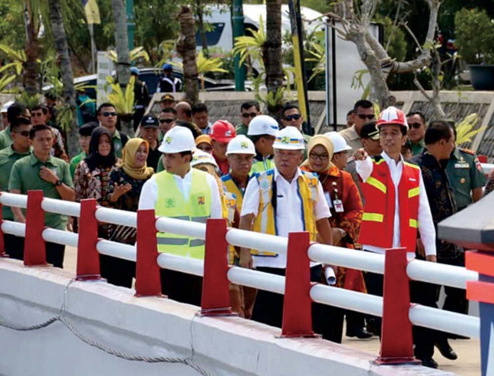 President Jokowi officiates Gondang Dam in Karanganyar